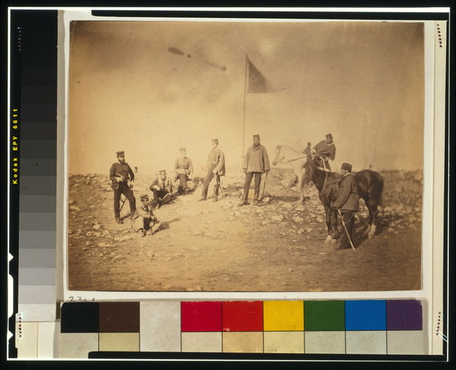Captain Hall, & group of the 14th