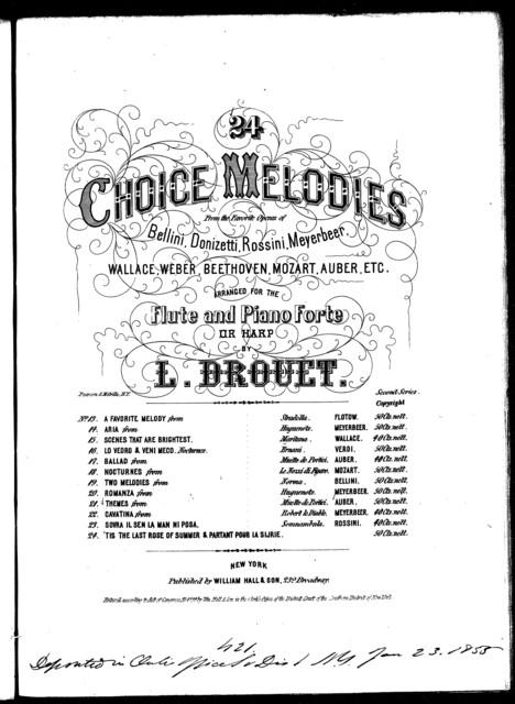"""Chorus and barcarolle in the opera """"La Muette de Portici"""""""