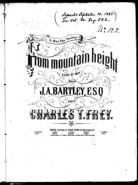 From mountain height, song of May