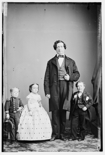 Gen. Tom Thumb, Miss Lavinia Warren, Commodore Nutt and The Giant
