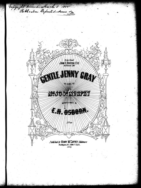Gentle Jennie Gray, op. 4