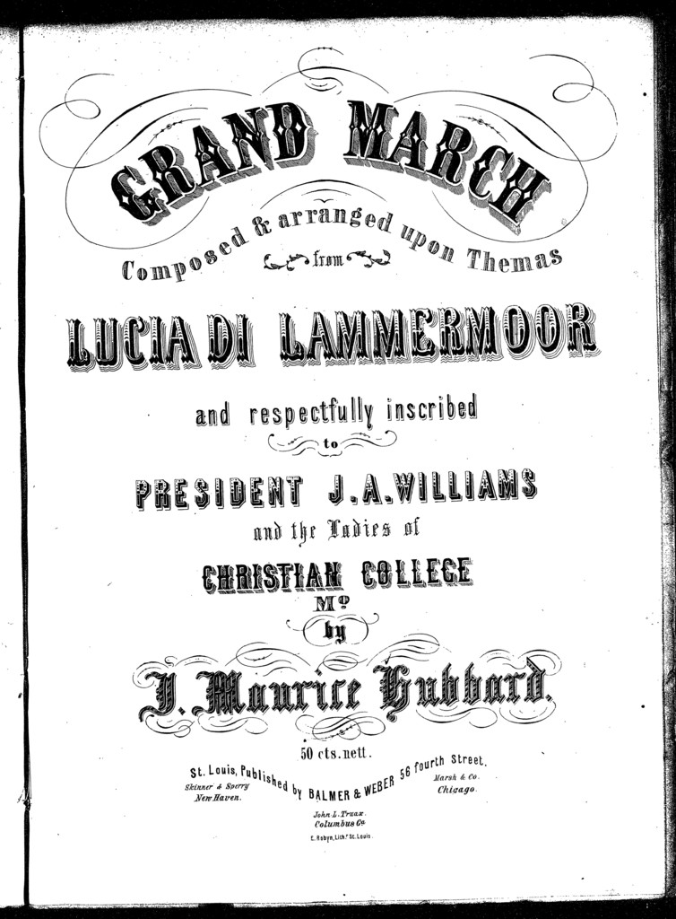 Grand march from Lucia di Lammermoor