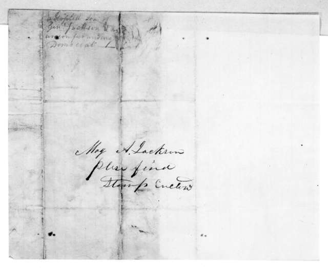 H. Gaines to Andrew Jackson, Jr., August 13, 1855