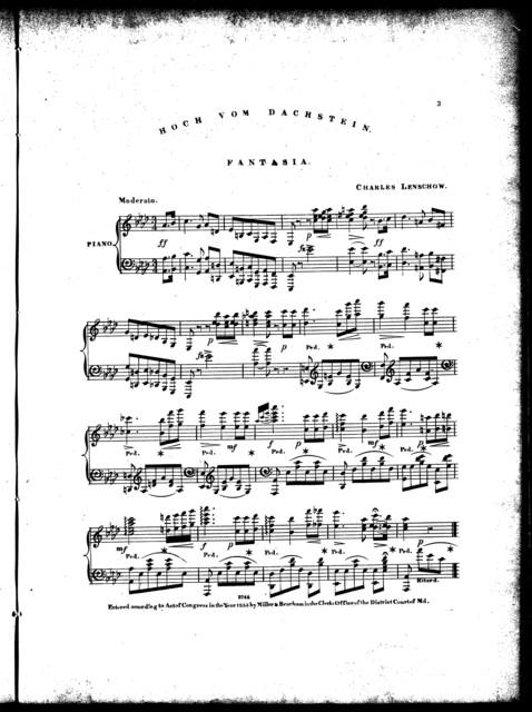 Hoch vom dachstein = High from the mountain, fantasia, op. 34