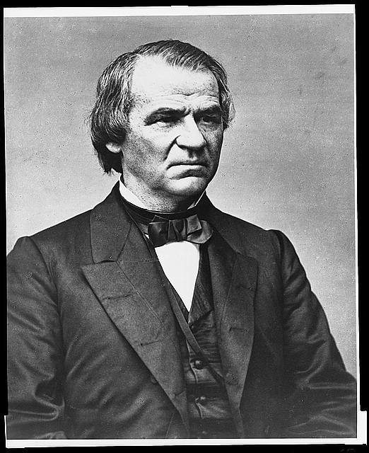 [Hon. Andrew Johnson, half-length portrait, facing left]