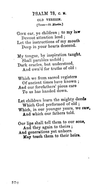 Hymns, for Forefather's Day. December 22, 1855. Canton, N. Y