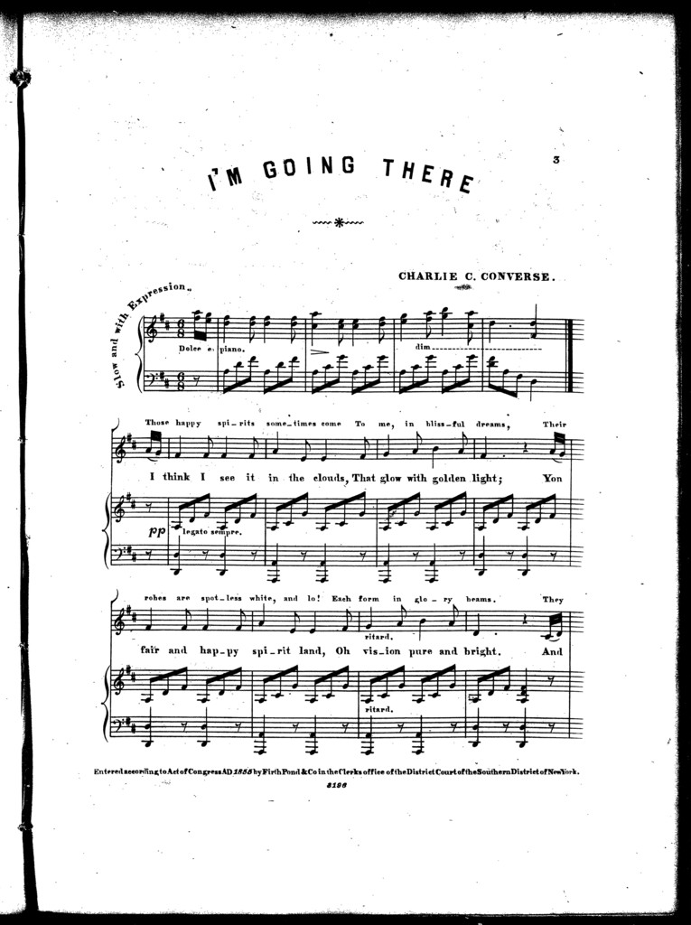 I'm going there, ballad