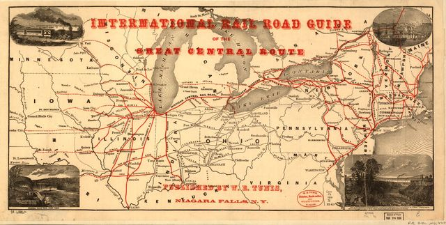 International rail road guide of the Great Central Route.