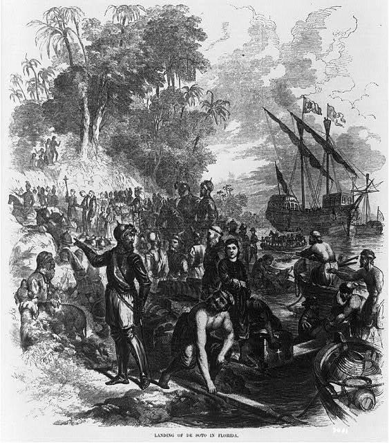 Landing of De Soto in Florida / Warren.