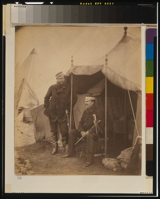 Lieutenant General Sir John Campbell & Captain Hume, his aide-de-camp, the general sitting