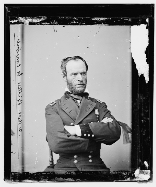 [Maj. Gen Willam T. Sherman, officer of the federal army]