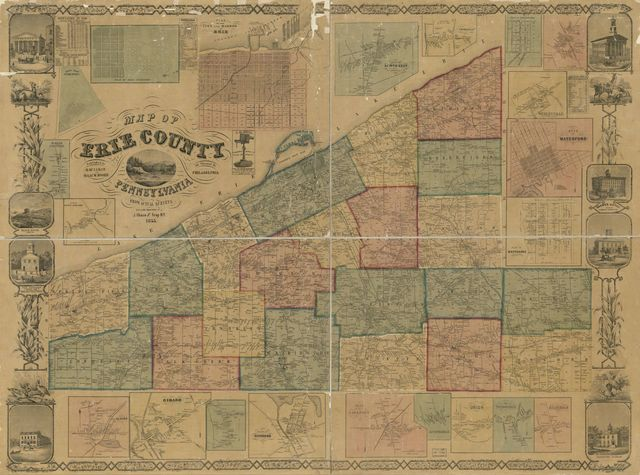 Map of Erie County, Pennsylvania : from actual surveys /