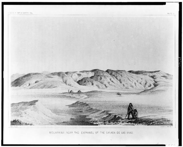 Mountains near the entrance of the Canada de las Uvas / Chas. Koppel ; T. Sinclair's lith., Phila.