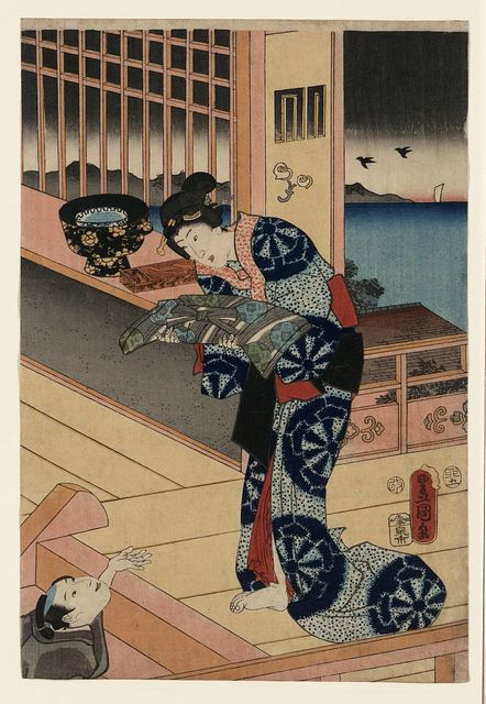 Naniwa no bessō akebono no zu