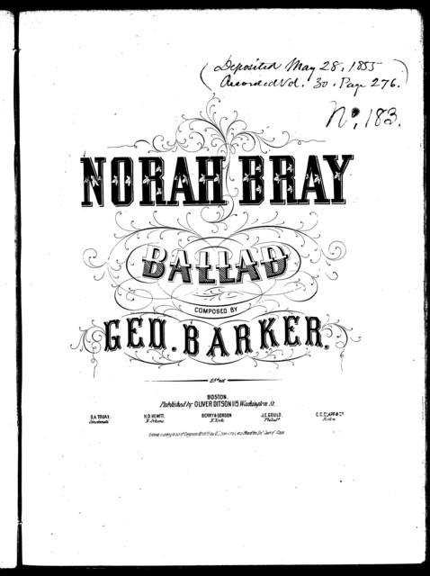 Norah Bray, ballad