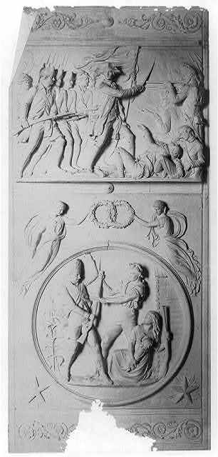 [Panel and medallion details from bronze doors for the east portico of the Senate wing, U.S. Capitol]