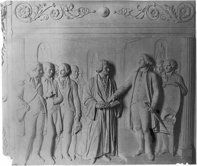 [Panel detail from bronze doors for the east portico of the Senate wing, U.S. Capitol]