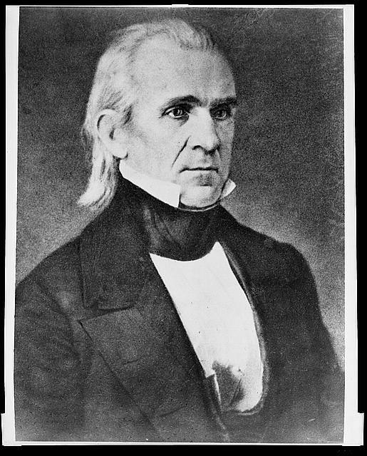 [President James K. Polk, half-length portrait, seated, facing right]