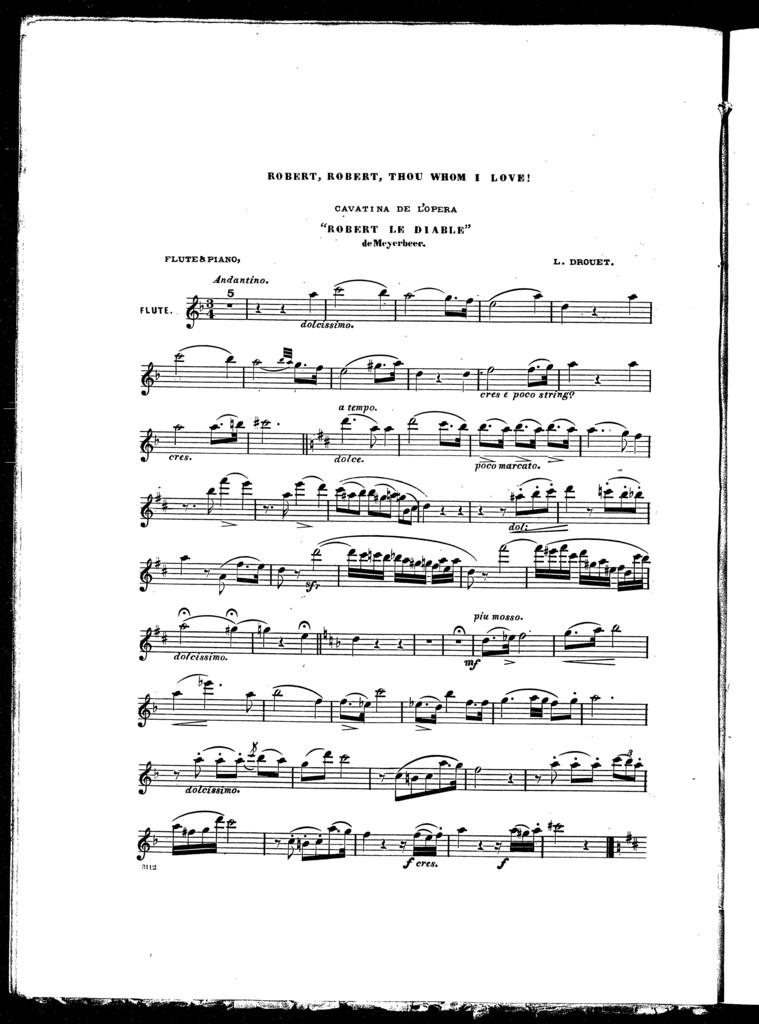 Robert, Robert, thou whom I love! Cavatina de l'opera Robert le diable