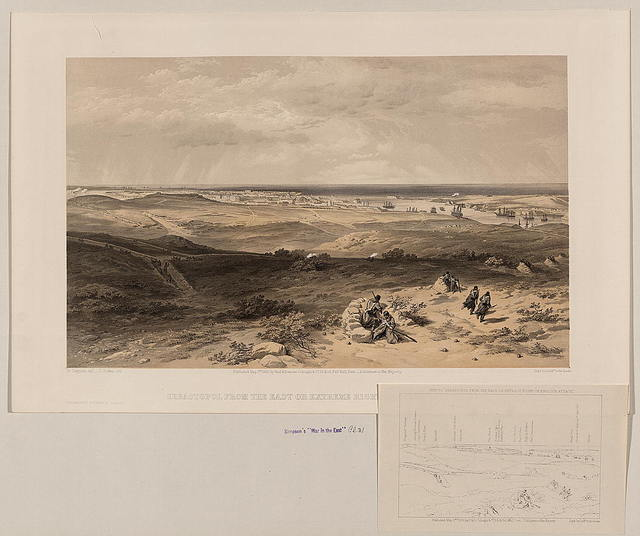 Sebastopol from the east or extreme right of English attack / W. Simpson delt. ; T. Picken lith.