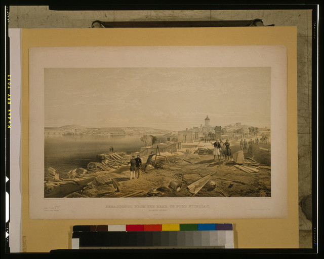 Sebastopol from the rear of Fort Nicholas, looking south / W. Simpson del. ; E. Walker lith. ; Day & Son, Lithrs. to the Queen.