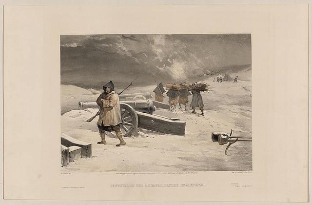 Sentinel of the Zouaves, before Sevastopol / W. Simpson del.