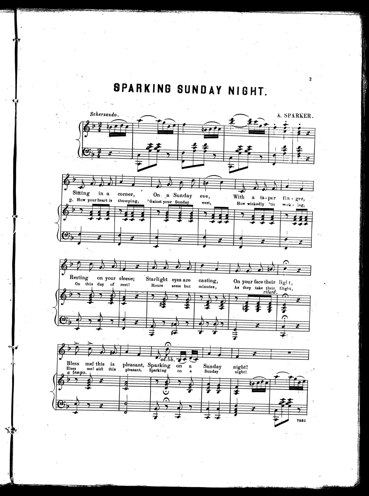 Sparking Sunday night