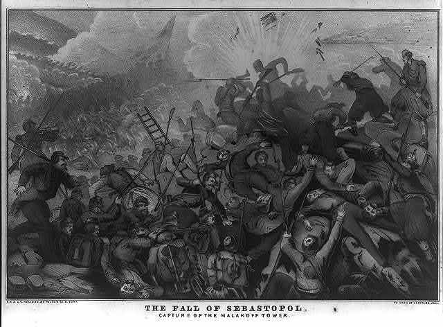 The fall of Sebastopol Capture of the Malakoff tower / / E.B. & E.C. Kellogg, N. York ; Hartford, Conn.