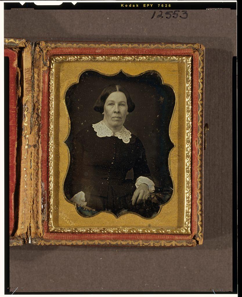 [Unidentified woman, half-length portrait, facing front]