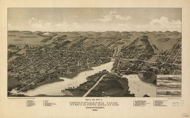 View of the city of Whitewater, Wis. Walworth-County 1855.