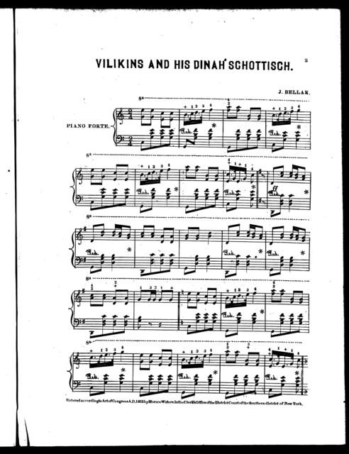 Vilikins and his Dinah schottisch