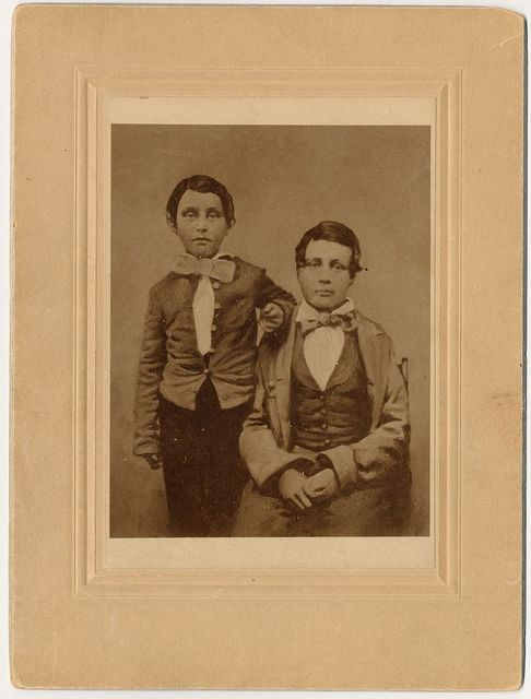 [William A. Pinkerton and Robert A. Pinkerton, three-quarter length portrait]