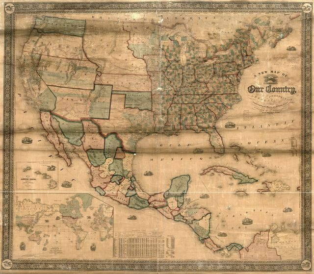 A new map of our country, present and prospective : [United States] : compiled from government surveys and other reliable sources.