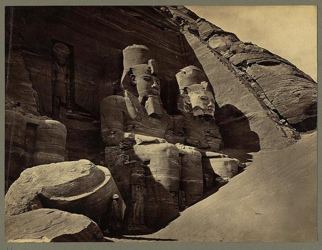 Abou Simbel, façade of the Temple