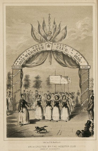 Arch erected by the Webster Club, Main St., S. Danvers / Lith. by J. H. Bufford.