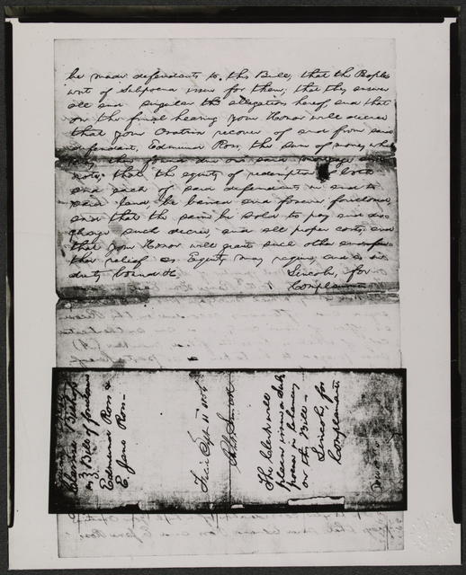 Bill of Complaint in Cheney et ux. v. Ross et ux, [Law papers].