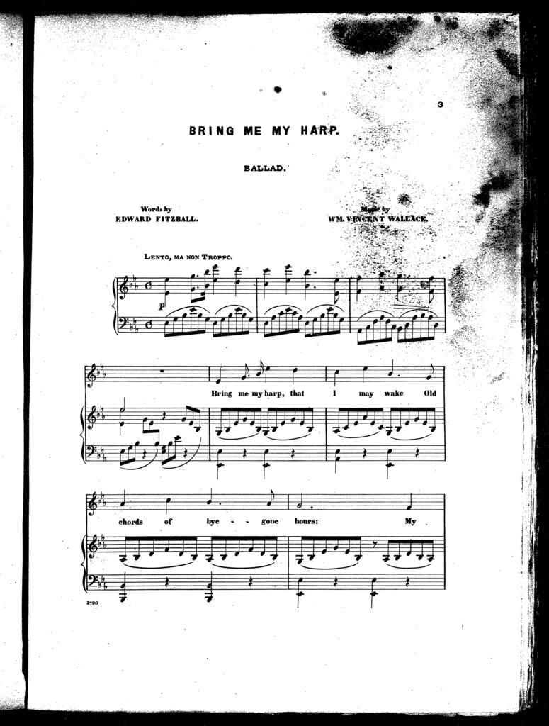Bring me my harp, ballad