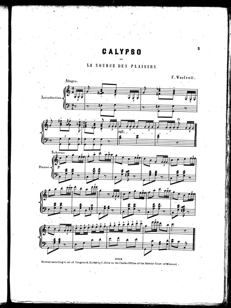 Calypso on La source des plaisirs
