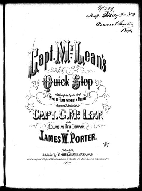 Capt. M'Lean's quick-step