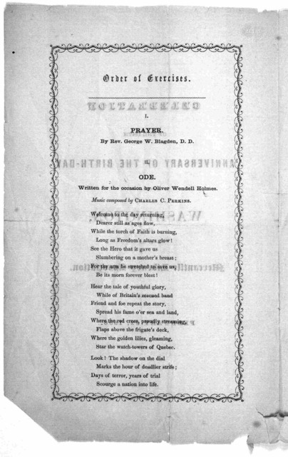 Celebration of the 124th anniversary of the birth-day of Washington by the Mercantile library association. February 22, 1856.