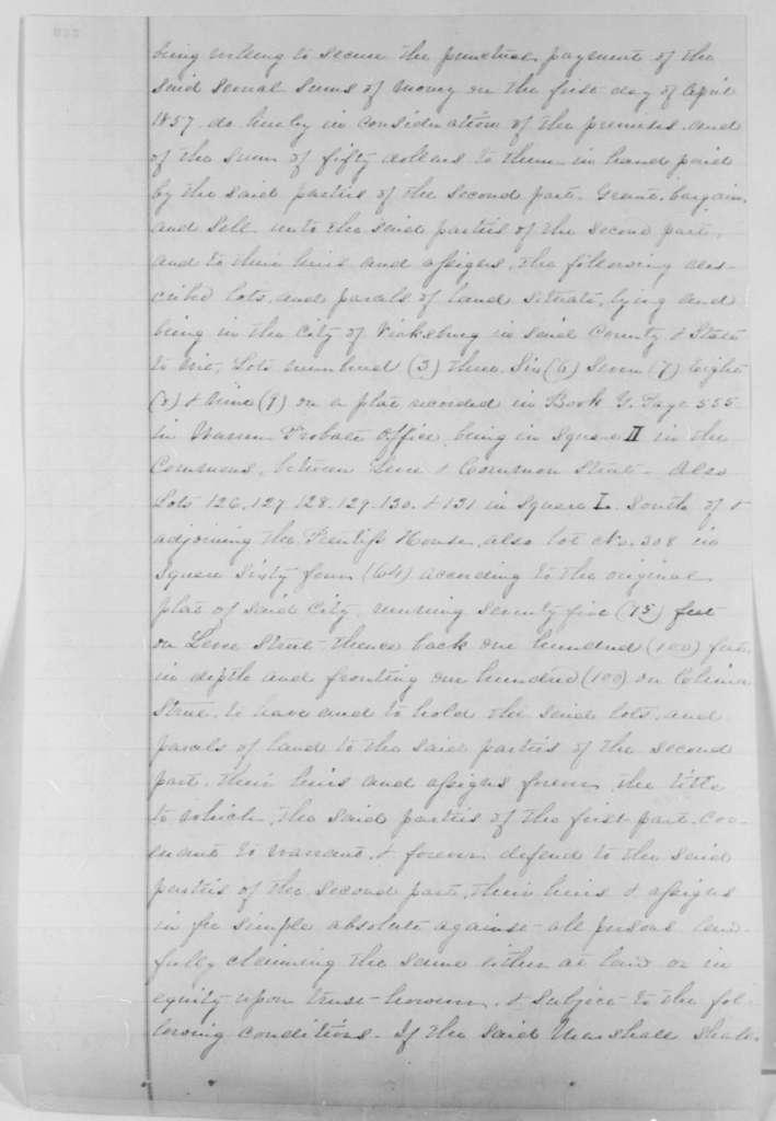 Charles K. Marshall and Amanda M. Marshall, Saturday, May 10, 1856  (Deed of trust to Ben Johnson)