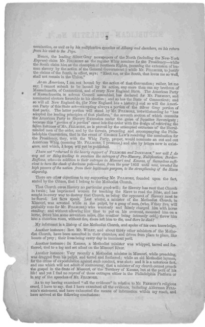 ... Chauncey Shaffer, Esq., a prominent member of the American party, supports John C. Fremont, as candidate for the office of President of the United States, and gives his reasons for so doing in the following letter. Saratoga Springs, Thursday