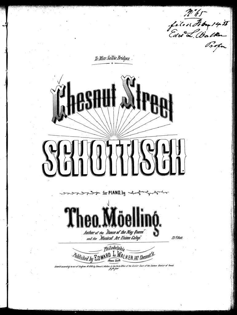 Chesnut Street schottisch