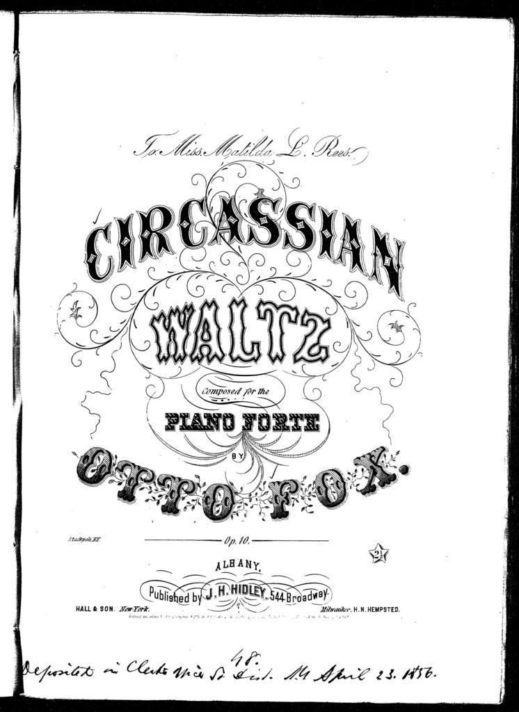 Circassian waltz, op. 10