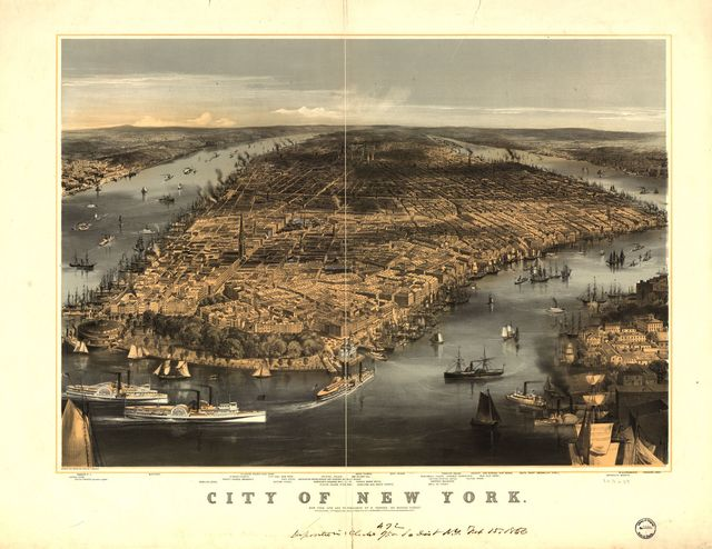 City of New York / sketched and drawn on stone by C. Parsons.