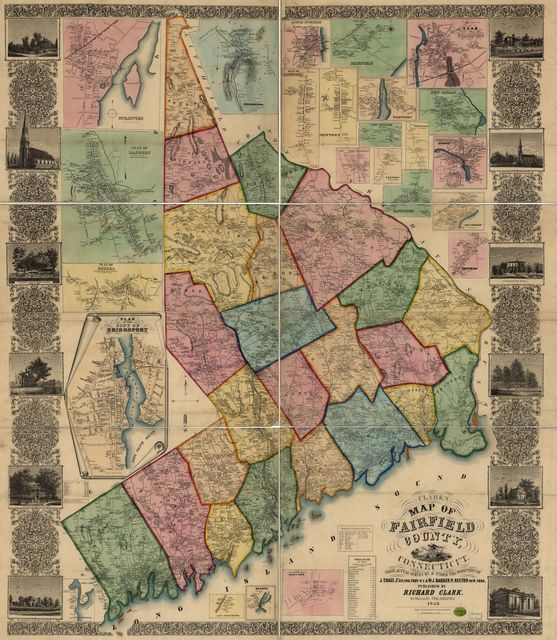 Clark's map of Fairfield County, Connecticut.