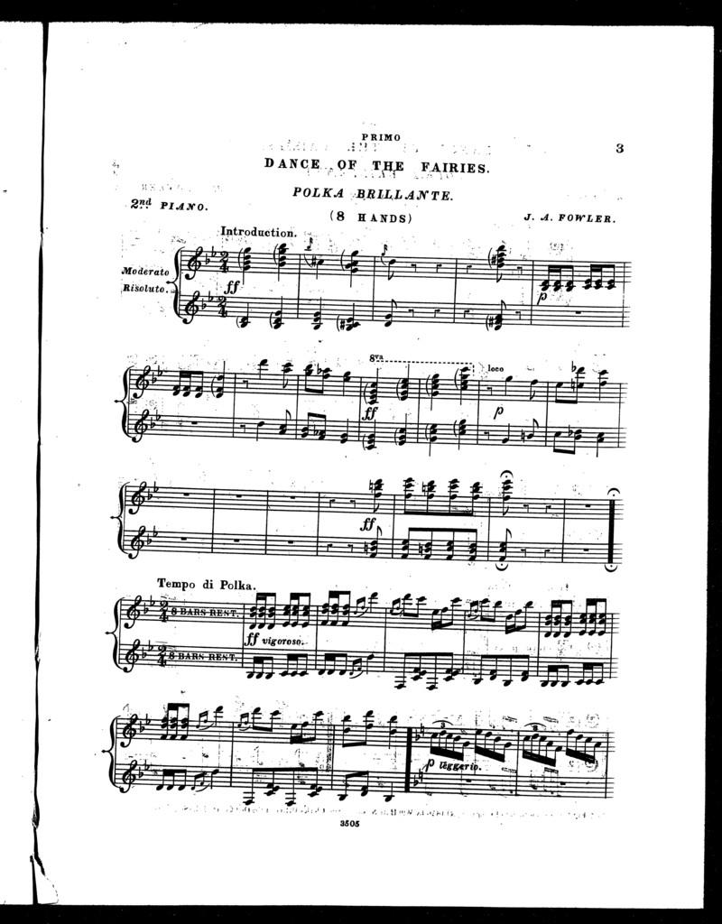 Dance of the fairies, polka brillante