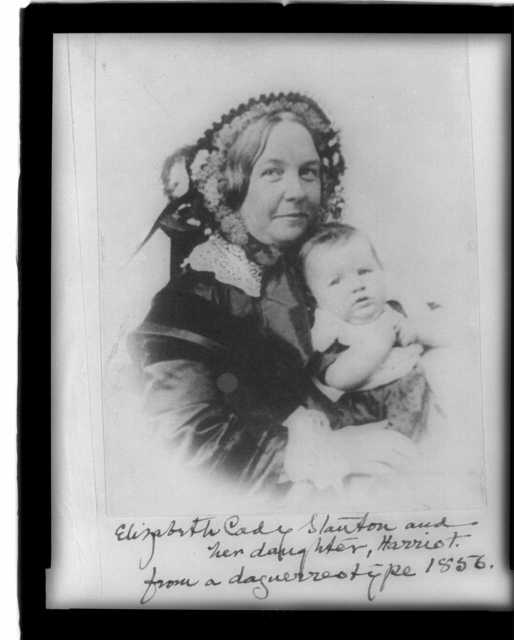 Elizabeth Cady Stanton and her daughter, Harriot--from a daguerreotype 1856