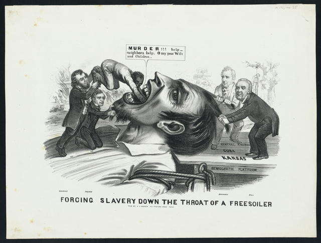 Forcing slavery down the throat of a freesoiler.