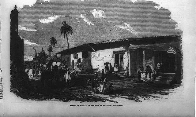 [Gen. Wm. Walker's Exp. in Nicaragua]: Street of Masaya in the city of Granada, Nicaragua